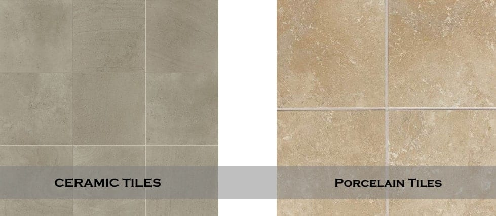 Porcelain Tiles vs Ceramic Tiles