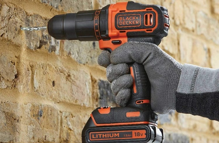 drilling wall with cordless drill