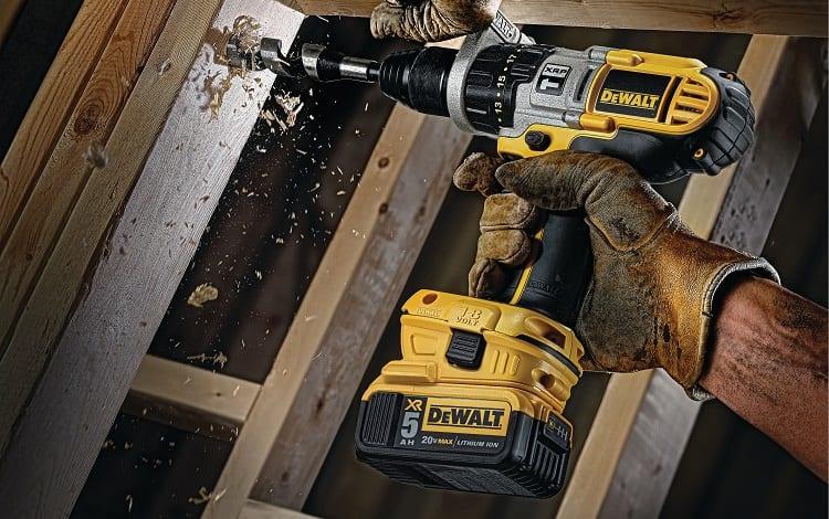 cordless drill with large battery