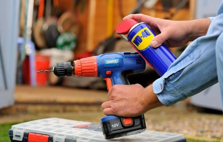 cordless drill lubrication with wd40