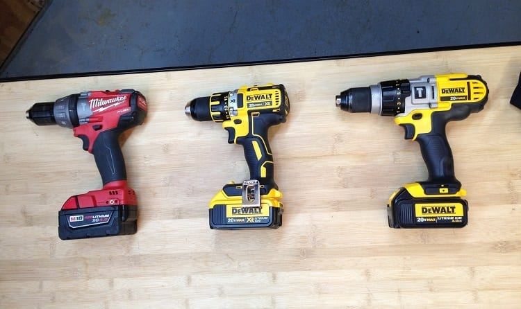 drills with different batteries