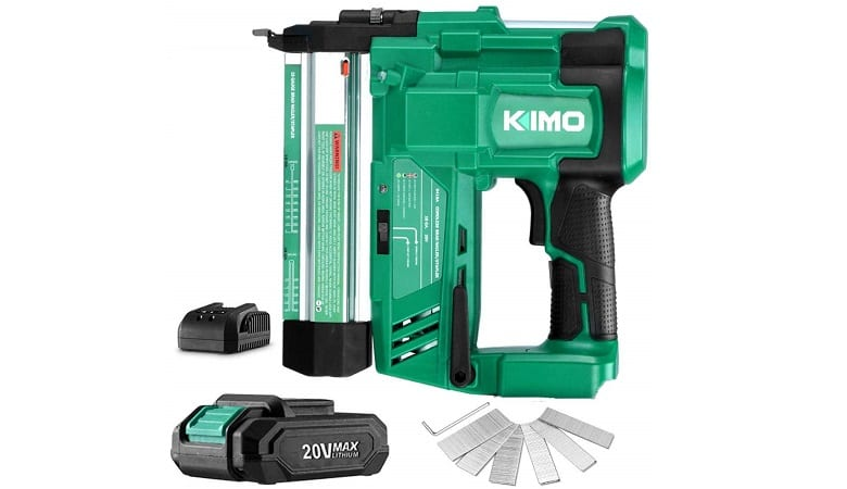 KIMO CORDLESS BRAD NAILER AND STAPLER KIT