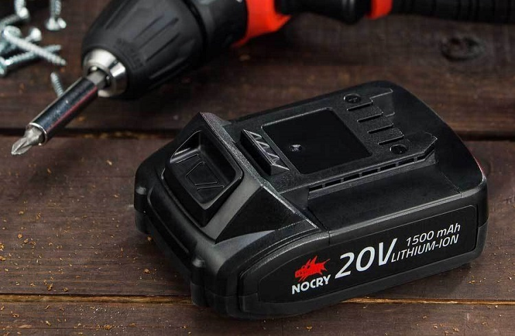 cordless drill with matching battery
